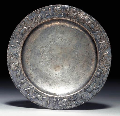 Tavă de argint asemănătoare celei descoperite la Concești (discus)